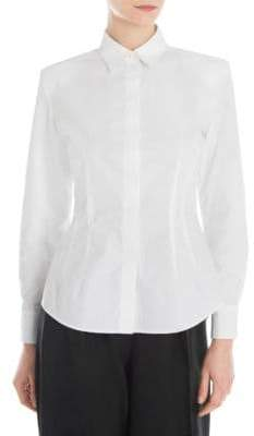 Sara Battaglia Bold Shoulder Shirt