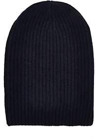 Barneys New York Women's English Rib-Knit Beanie-Navy