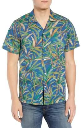 J.Crew J. CREW Regular Fit Leaf Print Slub Cotton Sport Shirt