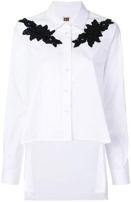 I'M Isola Marras lace appliqué shirt