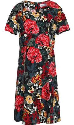 Sonia Rykiel Fluted Floral-Print Crepe Mini Dress