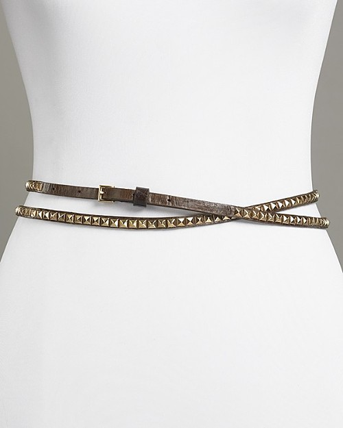 Streets Ahead Studded Double Wrap Leather Belt