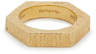 PATCHARAVIPA Hexagon 1 18kt gold ring