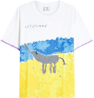 Vetements Elephant Elinor Printed Cotton T-Shirt