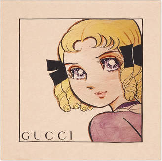 Gucci Silk scarf with Viva! Volleyball print