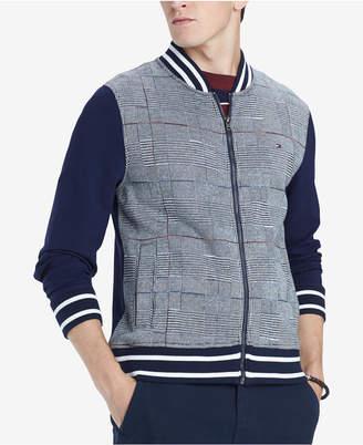 Tommy Hilfiger Men Glenn Plaid Full-Zip Knit Bomber Jacket