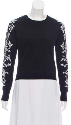 Rebecca Minkoff Crew Neck Jacquard Sweater