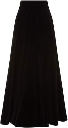 Costarellos Long Velvet Circle Skirt