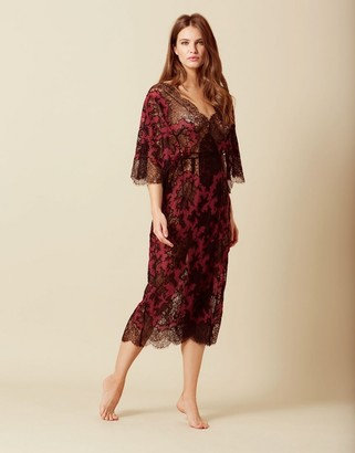 Cora Dress Burgundy And Black
