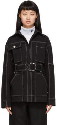 Proenza Schouler Black Utility Belt Jacket