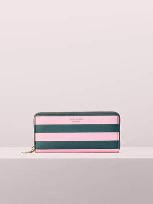 Kate Spade sylvia stripe slim continental wallet
