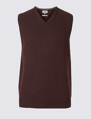 M&S Collection Pure Lambswool Sleeveless Jumper