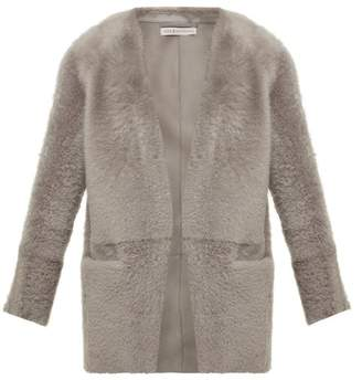Inès & Marèchal Egypte Collarless Shearling Jacket - Womens - Grey