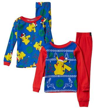 Pokemon AME Pikachu Holiday Cotton PJs - Set of 2 (Little Boys & Big Boys)