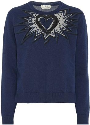 Fendi Embroidered cashmere sweater