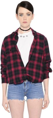Oversized Plaid Cotton Shirt $890 thestylecure.com