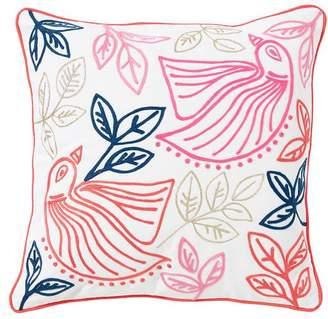 Pottery Barn Teen Boho Bird Pillow Cover, 16x16, Warm