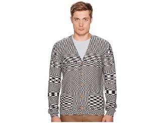 Missoni Check/Spacedye Cardigan Men's Sweater