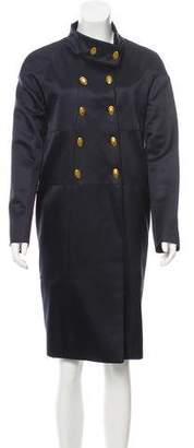 Valentino Double-Breasted Wool-Blend Coat w/ Tags