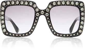 Gucci Crystal-Embellished Square-Frame Sunglasses