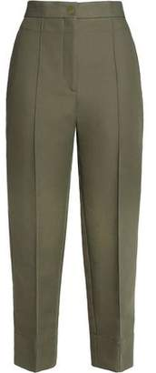 Sandro Cotton-Blend Twill Straight-Leg Pants