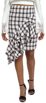 Missguided Asymmetric Frill Skirt