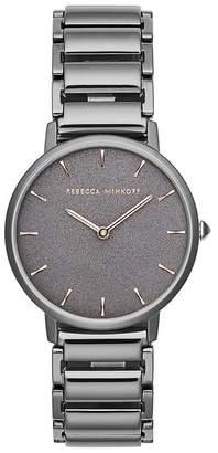 Rebecca Minkoff Major Grey Ion Plated Tone Bracelet Watch, 35Mm