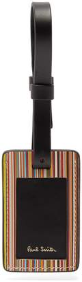 Paul Smith Striped leather luggage tag