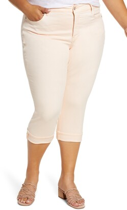 NYDJ Marilyn Cuff Crop Straight Leg Jeans