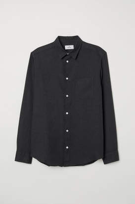 H&M Linen Shirt - Black
