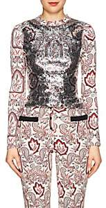 Paco Rabanne WOMEN'S PAISLEY SEQUINED TOP