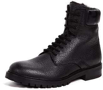 HUGO Explore Grainy Leather Hiker Boots