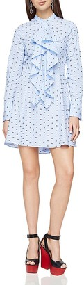 BCBGMAXAZRIA Chelsea Ruffle Shirt Dress $228 thestylecure.com