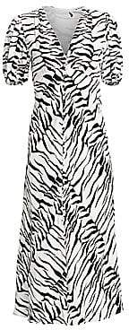 Rixo Women's Tonya Tiger A-Line Midi Dress