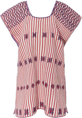 Pippa Holt Pink And White Striped Mini Caftan