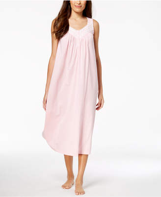 Charter Club Long Lace-Trim Nightgown