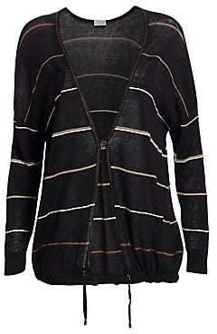 Brunello Cucinelli Women's Stripe Oversized Cardigan