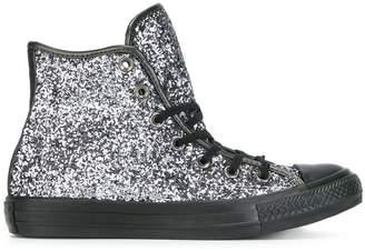 Converse hi-top glitter sneakers
