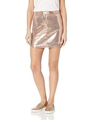 BB Dakota Junior's Modern Love Sequin Mini Skirt