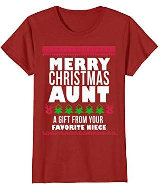 Merry Christmas Aunt A Gift from your Favorite Niece T-Shirt