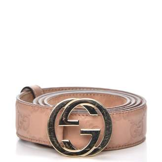 Gucci Interlocking G Belt Monogram Guccissima Winter Rose