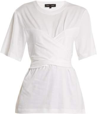 Proenza Schouler Wrap-style cotton-jersey T-shirt