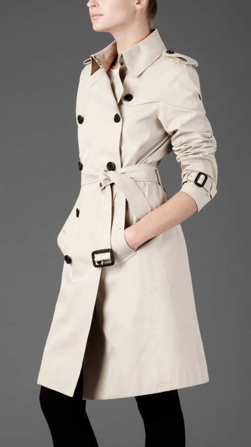 Long Double Breasted Trench Coat