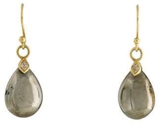 Elizabeth Showers 18K Pyrite & Diamond Eliza Droplet Earrings