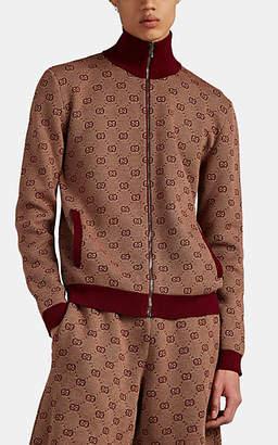 Gucci Men's GG-Jacquard Wool-Cotton Cardigan - Beige, Tan