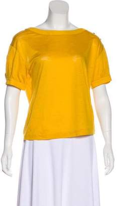 3.1 Phillip Lim Button Accent Short Sleeve Top