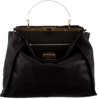 Fendi Selleria Leather Peekaboo Bag