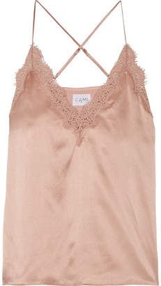 CAMI NYC Everly Lace-trimmed Silk-charmeuse Camisole - Antique rose