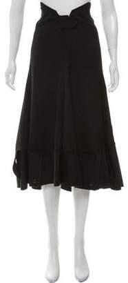 Junya Watanabe Comme des Garçons Asymmetrical Wool Skirt Black Comme des Garçons Asymmetrical Wool Skirt