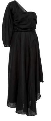 Rachel Comey Tipple One Sleeve Asymmetric Linen Dress